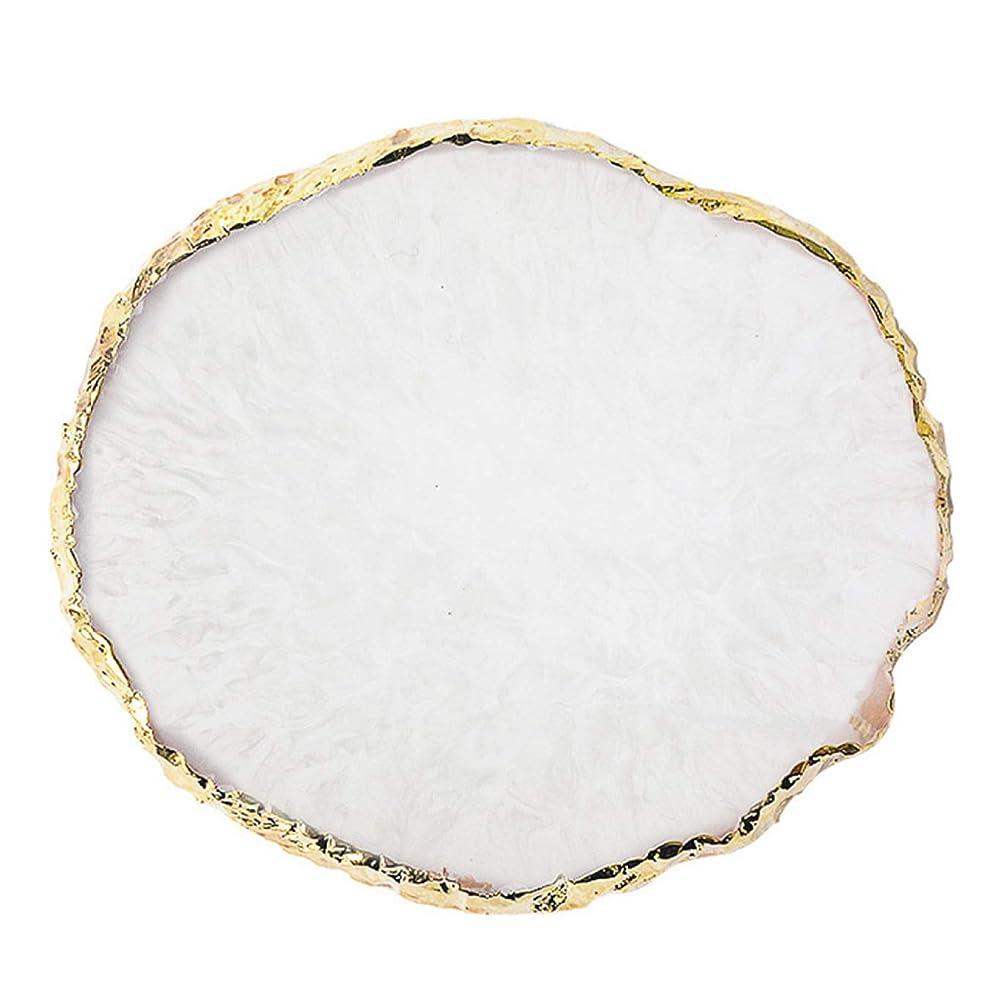 背骨再生可能噴水Quzama-JS ノベルティ1つの樹脂ネイルアート塗装ボードを描いてゲル塗装色の絵皿(None Q)