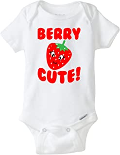 BLAKENREAG Berry Cute Strawberry Funny Baby Onesie Boutique Boy Girl Clothes