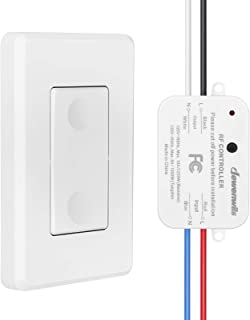 DEWENWILS Wireless Light Switch and Receiver Kit, No in-Wall Wiring Required,Remote Control Wall Switch Lighting Fixture f...