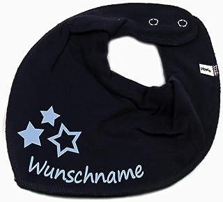 Elefantasie HALSTUCH drei Sterne mit Namen oder Text personalisiert für Baby oder Kind verschiedene Ausführungen