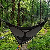 Giant Aerial Camping Hammock - Multi Person Portable Hammock 3 Point, Tree House Air Sky Tent, for Backpacking, Garden, Travel, Beach, Backyard, Patio 4m x 4m x4m(13.1ft x 13.1ft x 13.1ft)