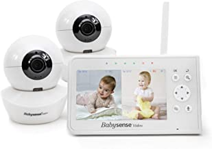 "Baby Monitor, Babysense 4.3"" Split Screen, Video Baby Monitor with Two Cameras and.."