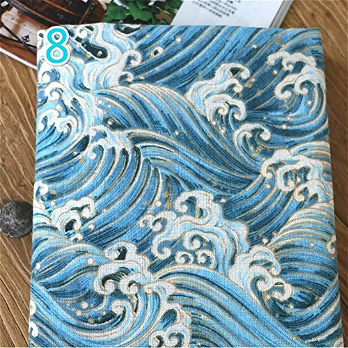 Japonés Algodón Lino Tejido para Cojín DIY Bolsa, 100 x 145 cm (#8)