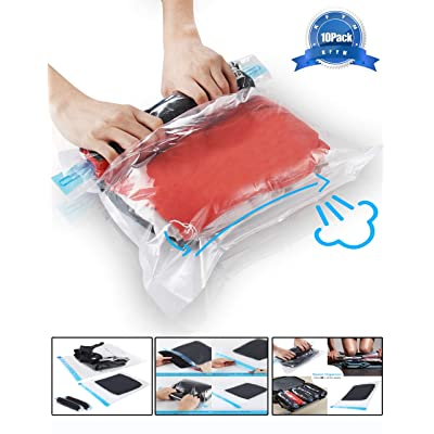 KFYM 10Pack Travel Space Saver Bags (4 x S, 3 x...