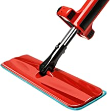 RYDQH Professional Microfiber Mop Rotating Hardwood Floor Mop with Stainless Steel Handle Reusable Flat Mop Pads for Wet o...