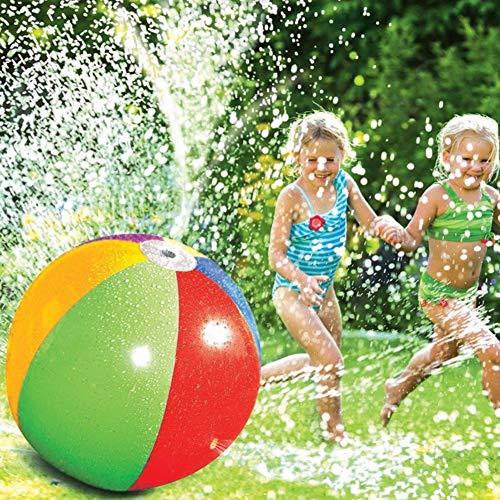 Opblaasbare Spray Beach Ball, Kids Opblaasbare Beach Sprinkler Water Spray Ball, Non-fade Duurzaam Sprinkler Water Toy, Watersport Splash Spray Toy, Voor Kinderen Outdoor Lawn