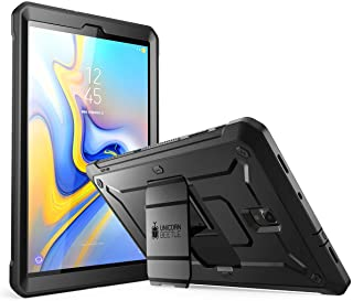 SUPCASE Full-body Rugged Case for Galaxy Tab A 10.5 with Built-In Screen Protector Kickstand Hybrid Case for Samsung Galaxy Tab A 10.5 (SM-T590/T595/T597) 2018 Release- Unicorn Beetle Pro (Black)