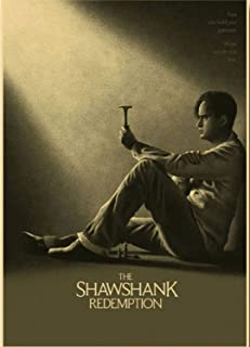 Bharat Udyog The Shawshank Redemption Poster - Andy Dufresne Movie Wall Sticker 300 Gsm Art Card Paper Print Artwork Print...