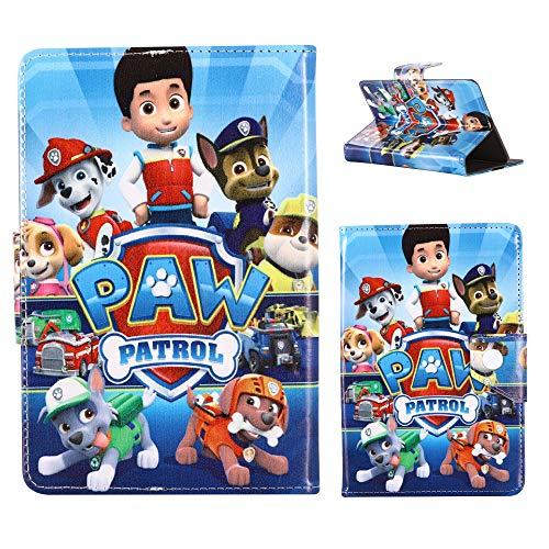 Paw Patrol - pups hero Cartoon Universal Case - children kids Tablet Cover / 7' inch Tab - 7' Size compatible with ANY Model Samsung Android Ipad Amazon kindle etc