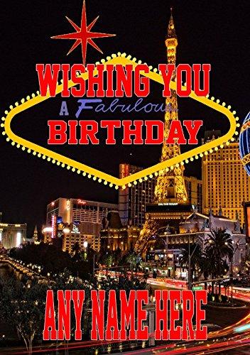 Nevada Las Vegas mia4Happy Birthday A5personalisierbar Grußkarte geschrieben von uns Geschenke für alle 2016von Derbyshire UK