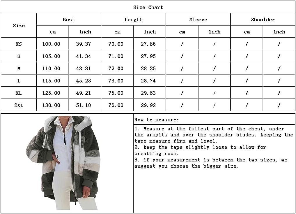 chouyatou Women's Thicken Windproof Sherpa Striped Hooded Warm Faux Fur Jacket Overcoat