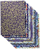 Chiyogami Yuzen Japanese paper B4 size 15 patterns - 15 pieces (blue series)