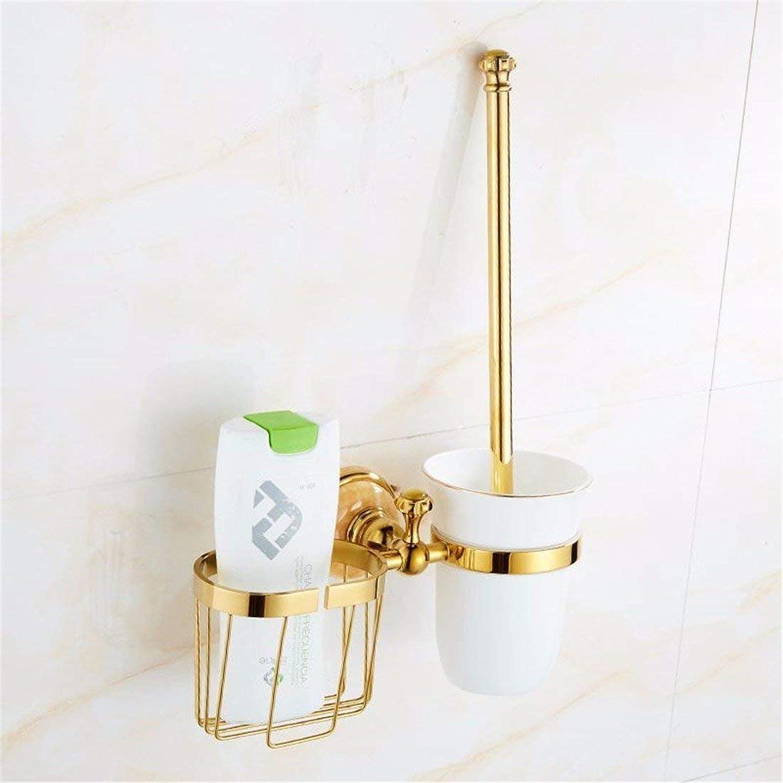 Jade Bronze gold European Bathroom Hanger Set,Toilet Brush