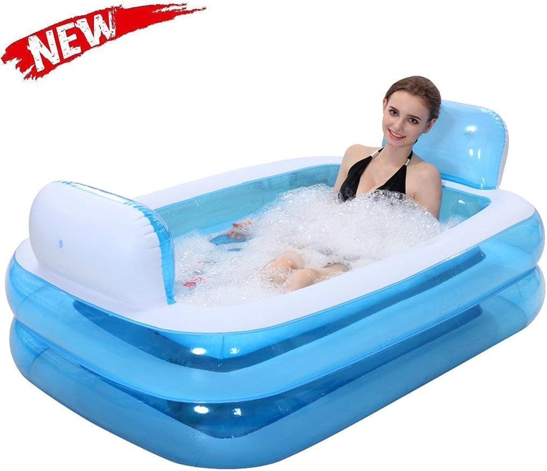 Bathtub, Pools Soaking Baths Inflatable Tub Adult Tub, Stylish Home Comfortable Folding Bathbluee Relieve Fatigue Bathtubs -,-