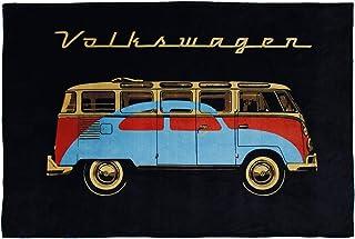 BRISA VW Collection - Volkswagen Samba Bus T1 Camper Van & Beetle Car Bug Fleece Blanket, Warm, Cozy & Super Soft (59.0x74...
