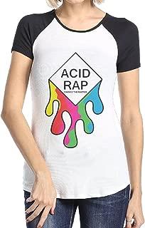 Women's Chance The Rapper Acid Rap Short Sleeve Raglan Baseball Tshirts Black