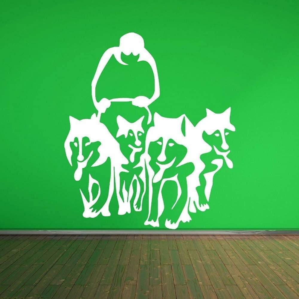 Art Wall Decals A Group of Husky Sales of SALE items from new works Dog Sled Sledge Gifts W Huskies Vinyl