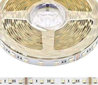 24VDC RGB+CCT 5 Chips in 1 Super Bright LEDs Flexible LED Strip Lights, High CRI 93 Color Changing+Tunable White Non-Waterproof 5050 RGBWW LED Tape Lights, 300LEDs 16.4feet Roll for Home Lighting