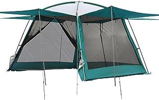 Hewflit スクリーンテント メッシュスクリーン シェード 虫除け 蚊帳 キャンプ バーベキュー 蚊帳テント 3m×3m メッシュシート UVカット 収納袋付全3色