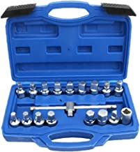 Jorzer Socket Hex Set Plac Trójkatne Naped Bit Obrazenia Bolt Nut Extractor Z 18szt Wrench