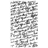 Rayher Hobby 2870900 Silikonstempel, Clear Stamps, klar, transparent, durchsichtig, Motiv Schriften, 9 x 15 cm
