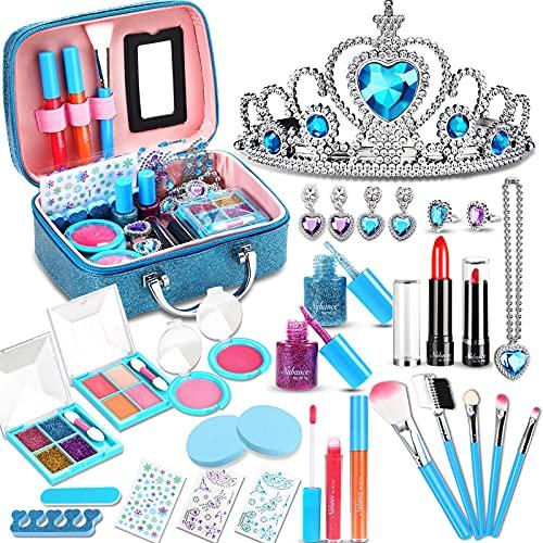 Nabance Gilrs Makeup Set, 33PCS Washable Non-Toxic Little Girl Makeup Toy...