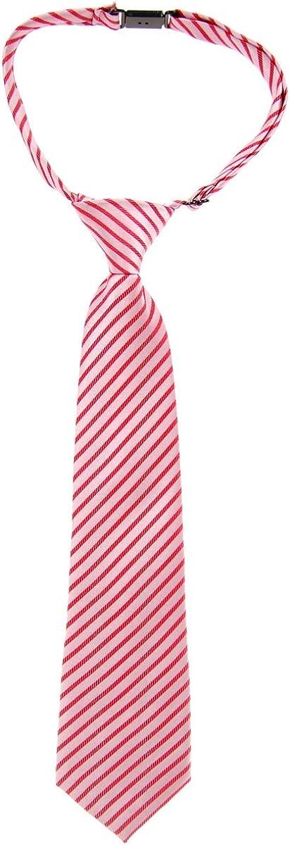 Retreez Modern Stripe Woven Microfiber Pre-tied Boys Tie