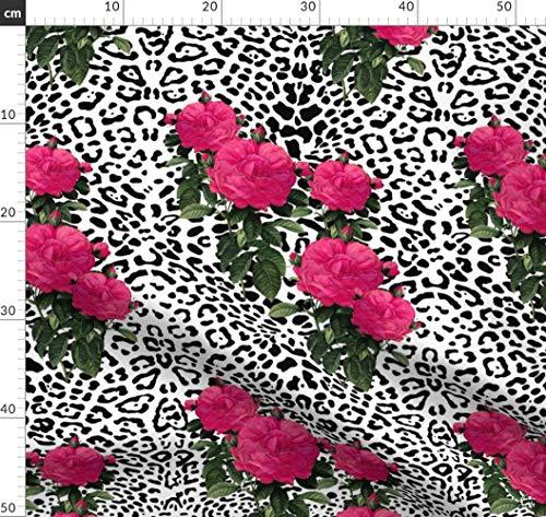 Punk, Rose, Rock, Pink, Leopard, sexy, Rockstar Stoffe - Individuell Bedruckt von Spoonflower - Design von Peacoquettedesigns Gedruckt auf Baumwoll Spandex Jersey