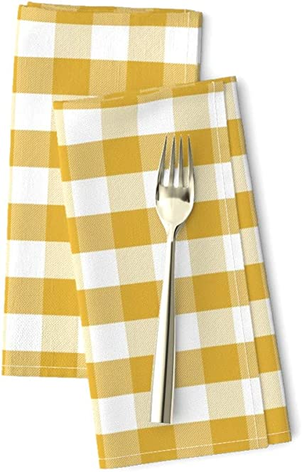 Set of 2 Tartan Dinner Napkins - Handmade Paper Plaid 2 by anniedeb Plaid  Gingham Classic Nursery Cloth Napkins by Spoonflower