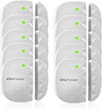 Wolf-Guard 433MHz Wireless Door and Window Sensor for Home Alarm Security System,White,10-Pack