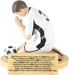 Dicksons Hear Our Prayer Kneeling Soccer Player 5 x 5.5 Resin Stone Tabletop Figurine