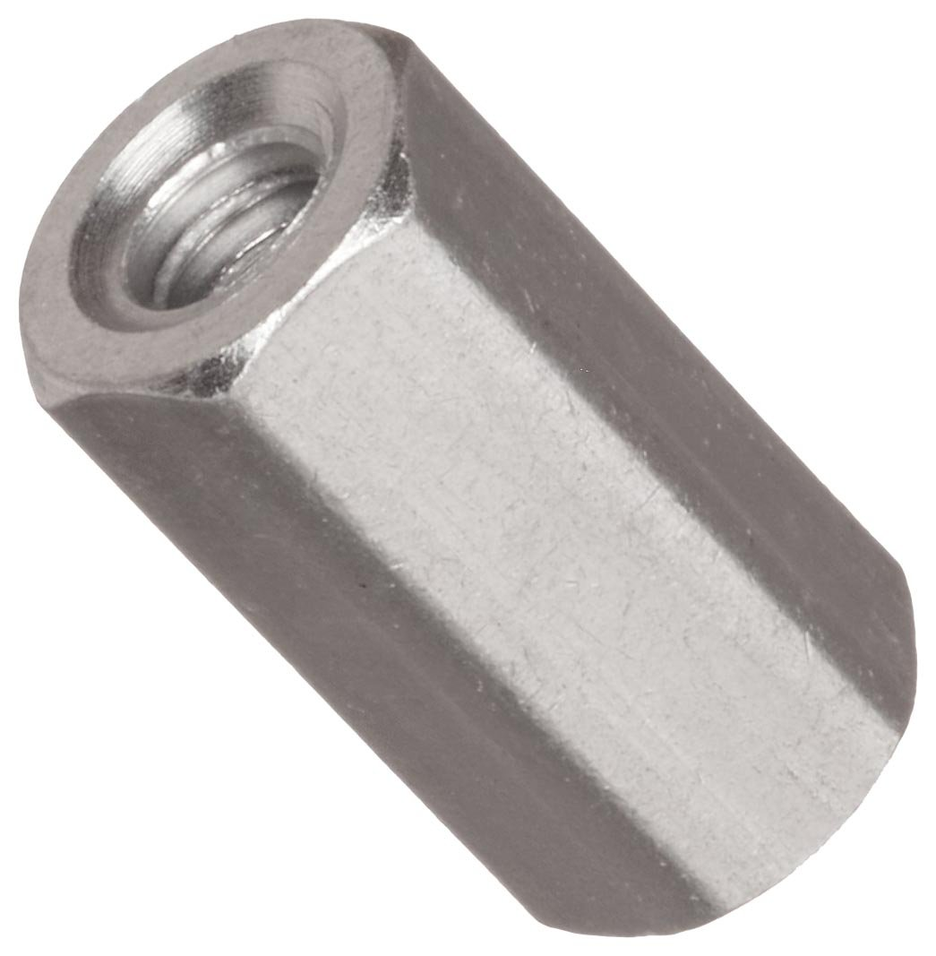#10-32 Screw Size Hex Standoff Stainless Steel 0.375 OD 10 Length, Pack of 1 Female