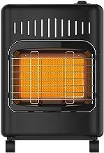 Calentador De Gas Estufa De Calefacción Negra Comercial Y De Consumo Pequeña Con Rodillo, Protección Contra Descargas, Carcasa Metálica