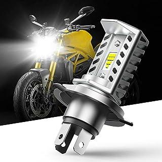 CCAUTOVIE Super Bright H4 Bombilla LED para Faros Moto Moto Bombilla LED 9003 HB2 1600LM 6000K Blanco