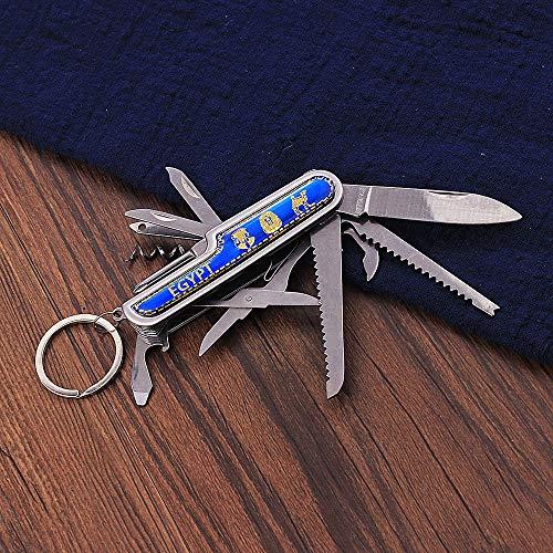 Schlüsselbund Schlüsselring Multifunktionale 91 Mm Klappmesser Edelstahl Multi-Tool Taschenmesser Jagd Outdoor Camping Überlebensmesser Schlüsselbund