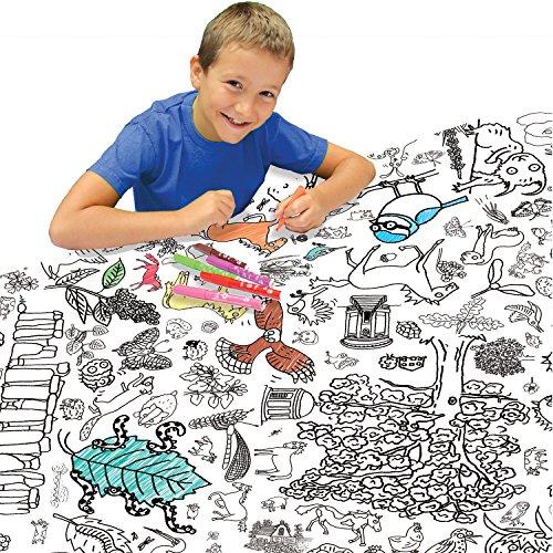 para niños de Color Eggnogg el Campo Mantel Kids Papel de Regalo