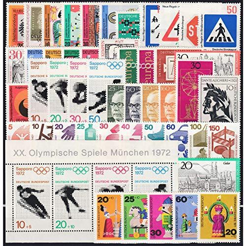 Goldhahn BRD Bund Jahrgang 1971 postfrisch ** MNH komplett Briefmarken für Sammler