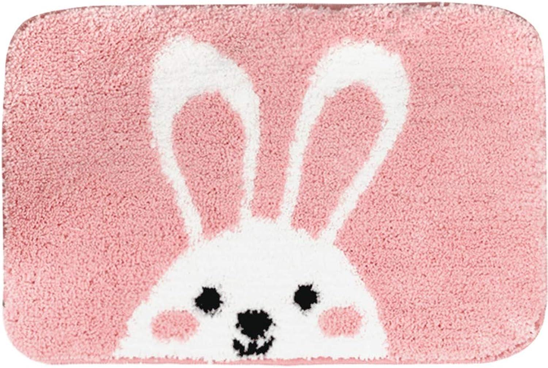 Door mat,Indoor Doormat Cartoon Floor mat Bathroom Bedroom Non-Slip mat Carpet Door mat Kitchen Rug-Rabbit 50x80cm(20x31inch)