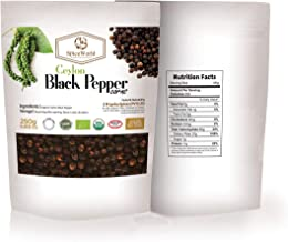 Organic Ceylon Black Pepper Corns Grade GL550 of Premium Quality USDA Certified for Grinder Refill / Pepper Mill for the u...
