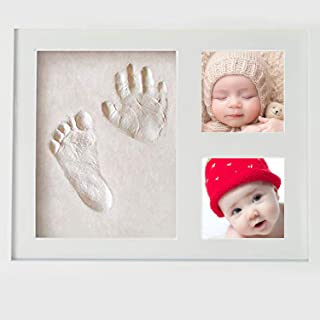 Baby Hand And Footprint Kit Handprint Photo Picture Frame Kit First Impressions Memory Keepsake Box Room Wall Nursery Deco...