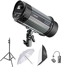 Neewer 300W Studio Strobe Flash Photography Lighting Kit:(1)Monolight,(1)6.5 Feet Light Stand,(1)Softbox,(1)RT-16 Wireless Trigger Set,(1)33 Inches Umbrella for Video Location and Portrait Shooting