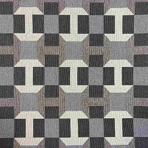 Kt KILOtela Tela por Metros de tapicería - Jacquard Gobelino - Ancho 280 cm - Largo a elección de 50 en 50 cm   Cuadros - Gris