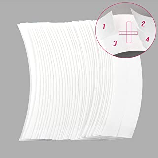 36 Pcs/Bag C Contour Curve Hair Tape Strips,Double Sided Waterproof Strong Adhesive Tape for Hair Extensions,Lace Front Wigs,Toupees and Hairpieces-White Color