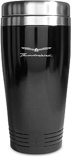 Ford Thunderbird Black Stainless Steel Travel Mug Tumbler