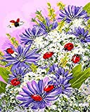 JASIOHCDSDIY Painting by Number Kits Pintura acrílica por número para decoración del hogar Wall Art Ladybug -1216 Pulgadas (sin Marco) Pintura al óleo Pintada a Mano