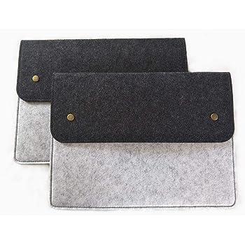 File folders-Felt Folder Expanding File Folder Portable Felt Holder documents Envelope Luxury Office Durable Briefcase Document Laptop Bag Paper Portfolio Case A4 Folder (2 Pcs)…