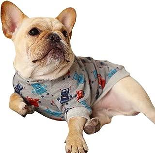 Smdoxi pet Summer Fashion Machine Printing Simple Cute cat Dog Breathable Comfortable Vest Clothes Shirt Keji French Bulldog