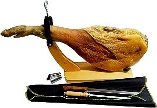Jamón Duroc Serrano (7kg -7.5kg) + Jamonero Góndola + Cubre Jamón + Cuchillo y chaira   Degust...