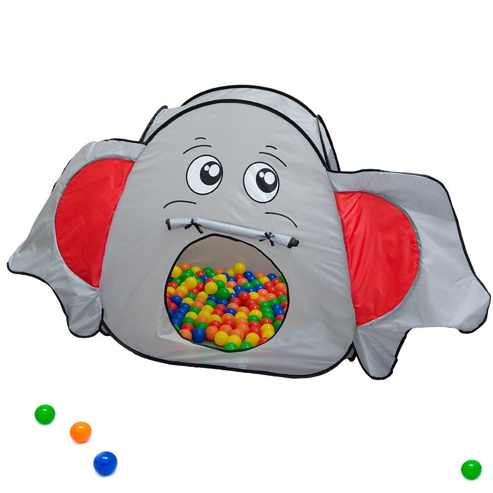 LittleTom Tienda de campaña en Forma de Elefante 100x100x102cm con ...