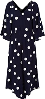 That Bird Label Womens Jumpsuits Savanna Kimono Jumpsuit Polka Navy